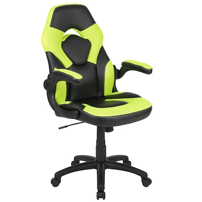 Magnificent X10 Gaming Chair Racing Office Ergonomic Computer Pc Adjustable Swivel Chair With Flip Up Arms Neon Green Black Leathersoft Ocoug Best Dining Table And Chair Ideas Images Ocougorg