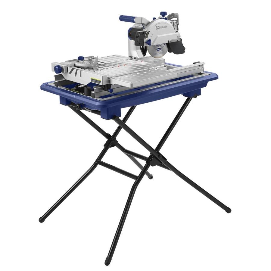 Kobalt 7 In Wet Dry Tabletop Sliding Table Tile Saw With Stand