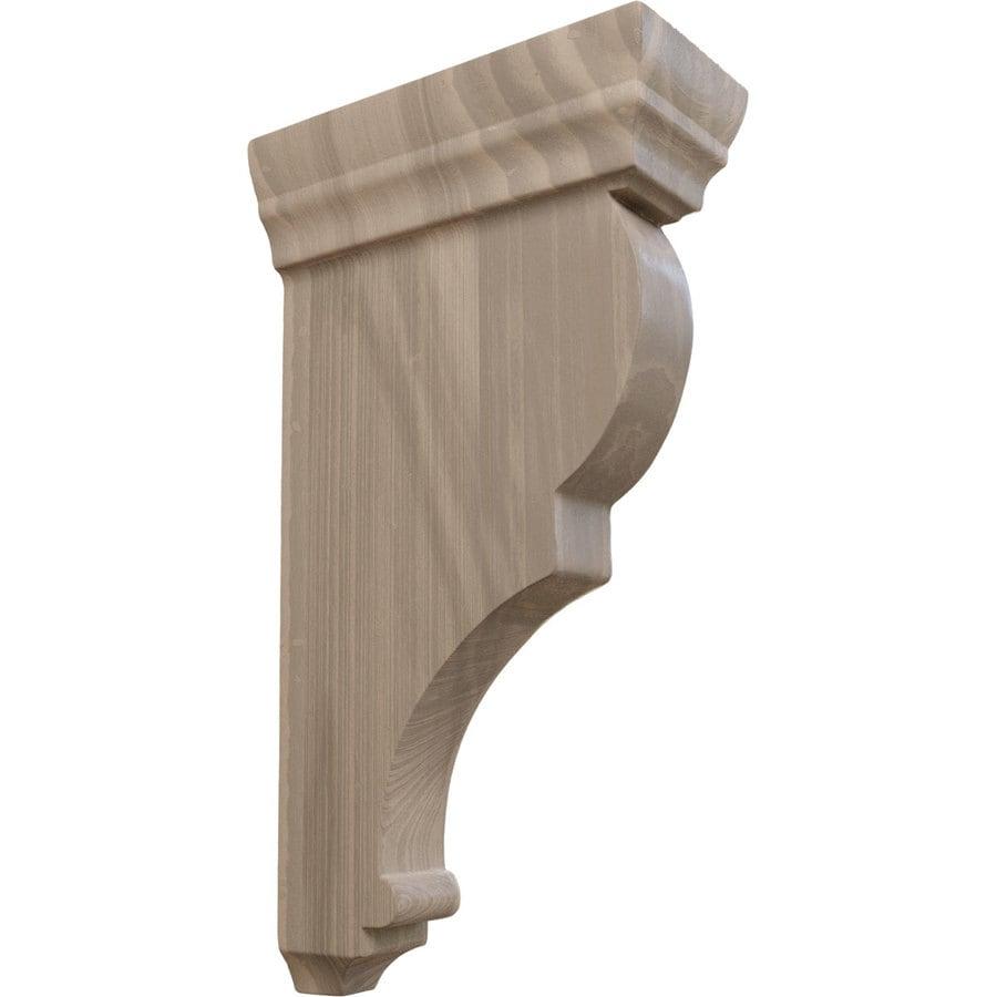 Ekena Millwork 2.5-in x 10-in Brown Rojas Wood Corbel