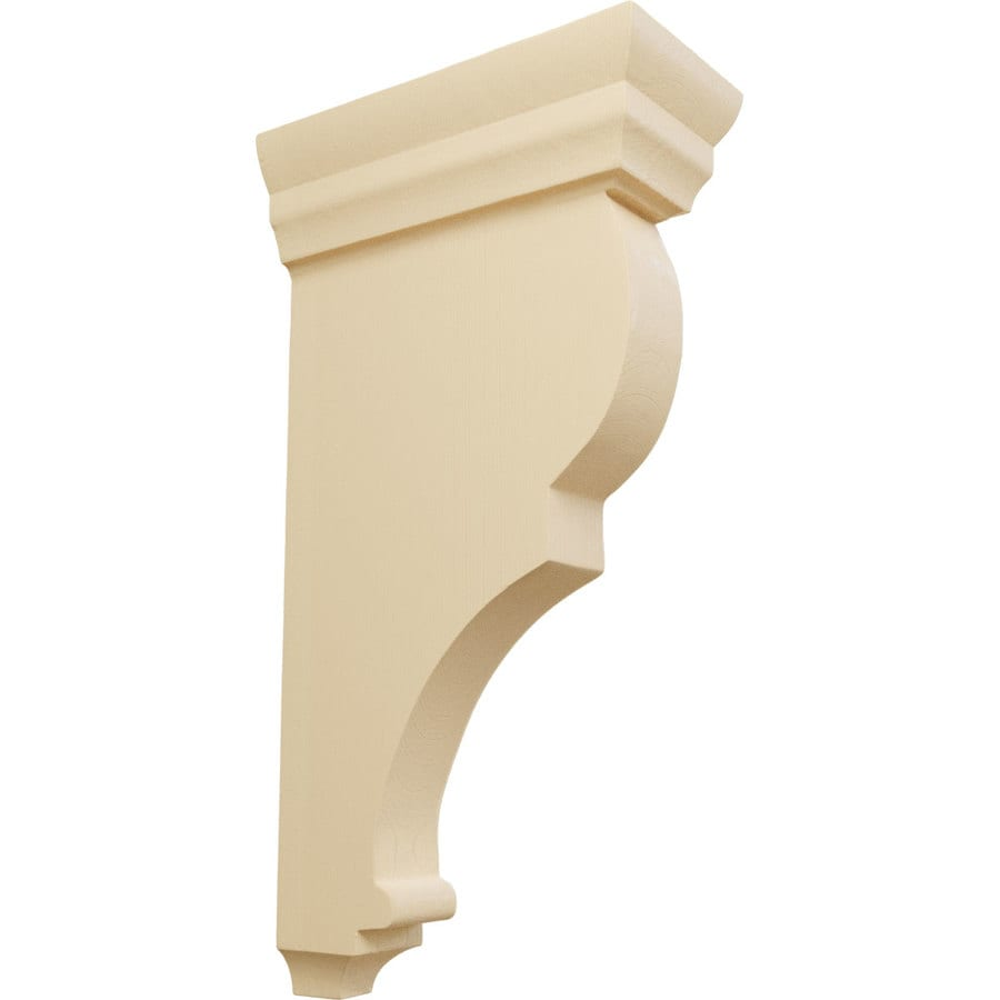 Ekena Millwork 3.5-in x 14-in Brown Rojas Wood Corbel