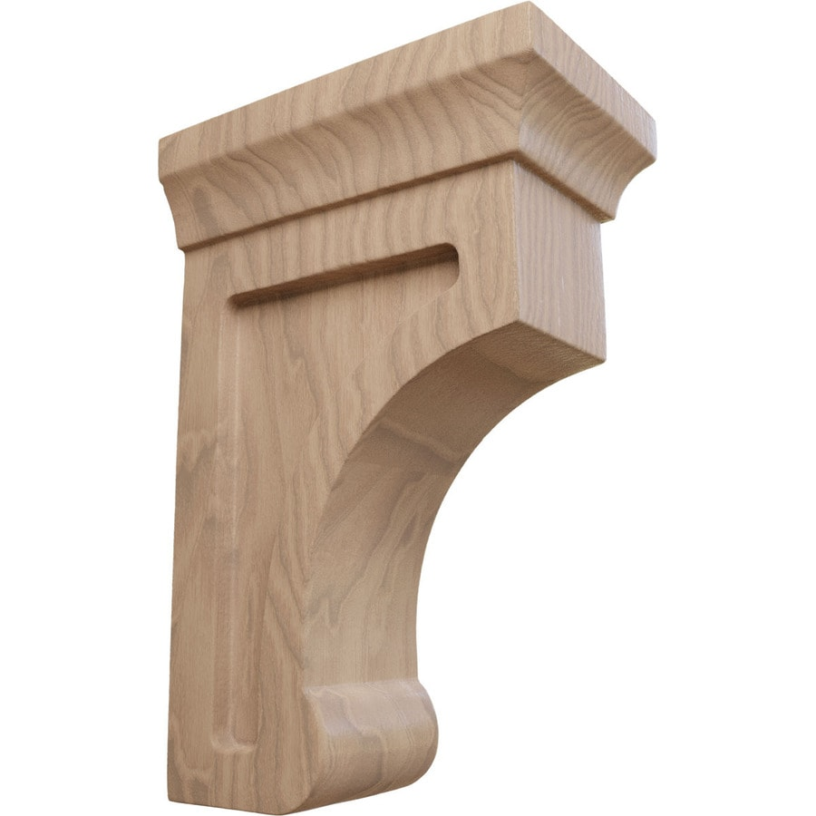 Ekena Millwork 2.5-in x 6-in Mahogany Gomez Wood Corbel