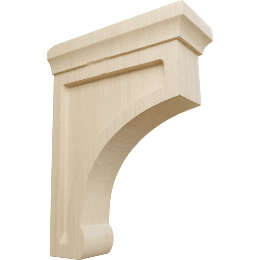 Shop ekena millwork 2 5 in x 8 in rubberwood unfinished for Decorative millwork accents