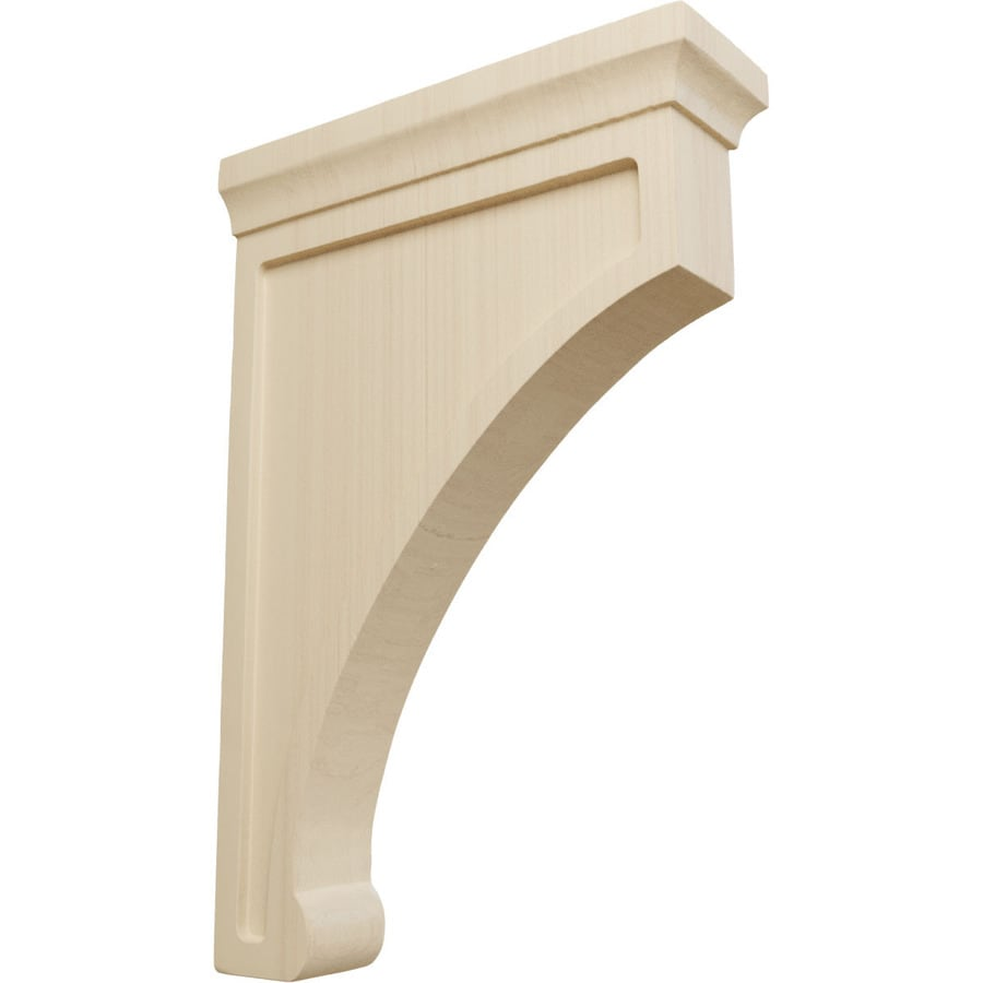 Ekena Millwork 2.5-in x 12-in Rubberwood Gomez Wood Corbel