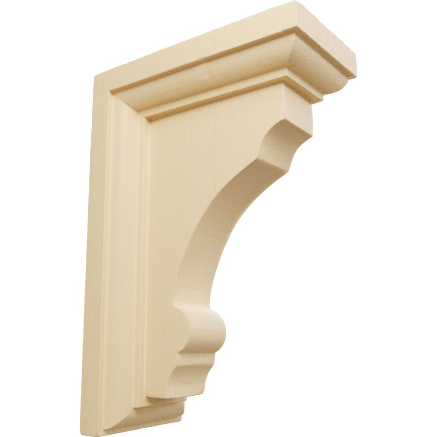 Ekena Millwork 2.5-in x 6-in Maple Thompson Wood Corbel