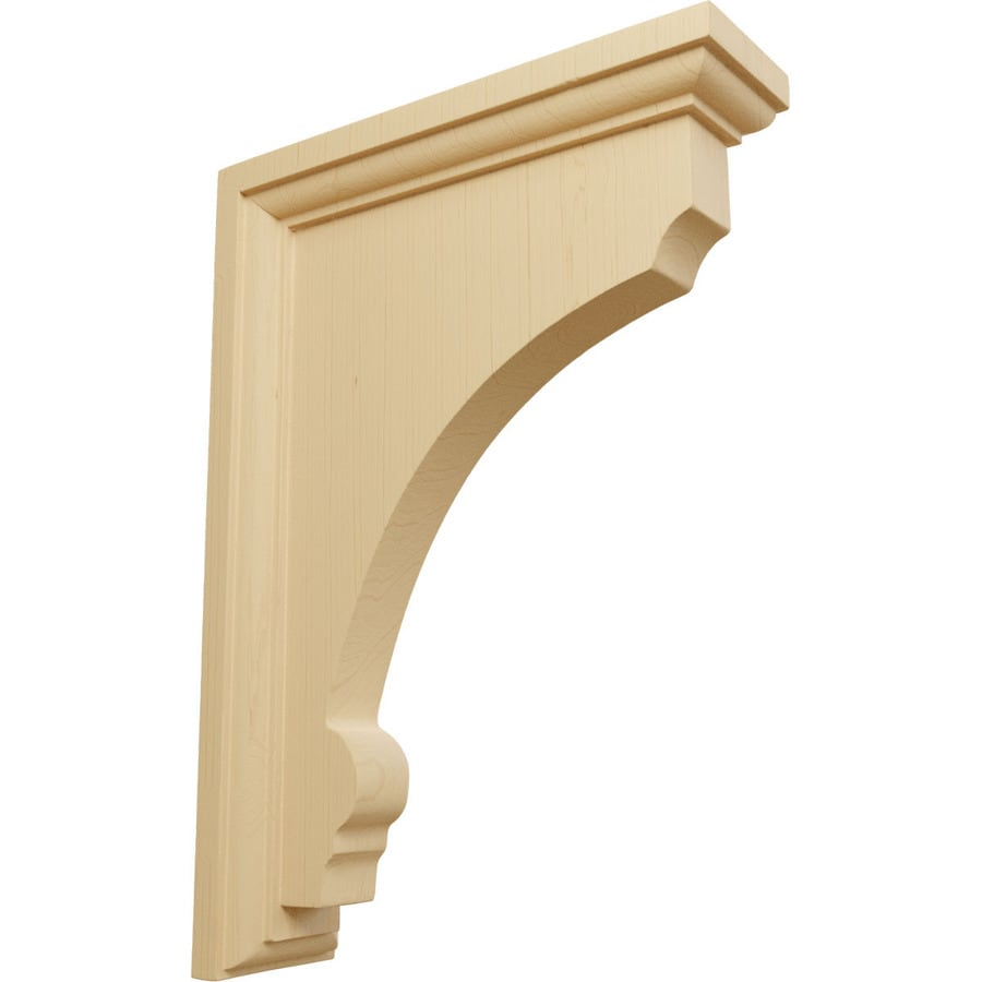 Ekena Millwork 2.5-in x 10-in Alder Thompson Wood Corbel