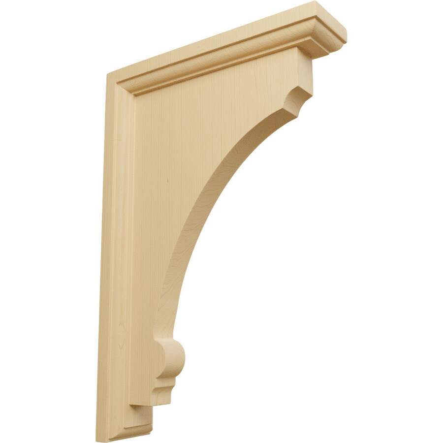 Ekena Millwork 2.5-in x 12-in Alder Thompson Wood Corbel