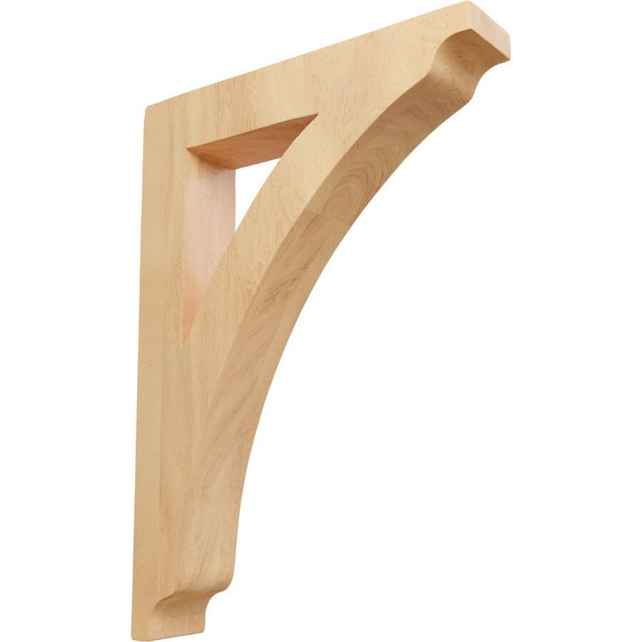 Ekena Millwork 1.75-in x 12-in Red Oak Thorton Wood Corbel