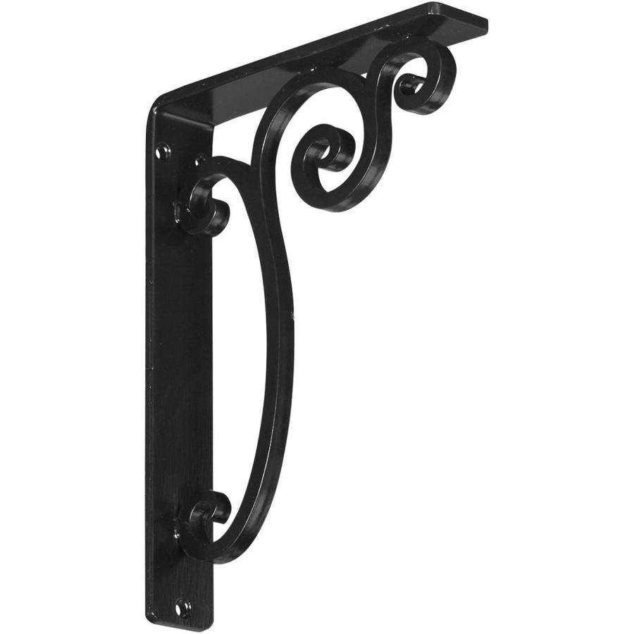 Ekena Millwork Avery 10-in x 1.5-in x 7.5-in Black Countertop Support Bracket