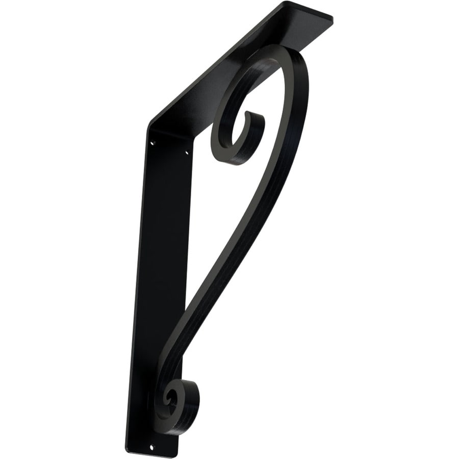 Ekena Millwork Edwards 12-in x 2-in x 10-in Black Countertop Support Bracket