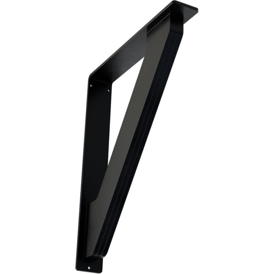 Ekena Millwork Traditional 15-in x 2-in x 12-in Black Countertop Support Bracket