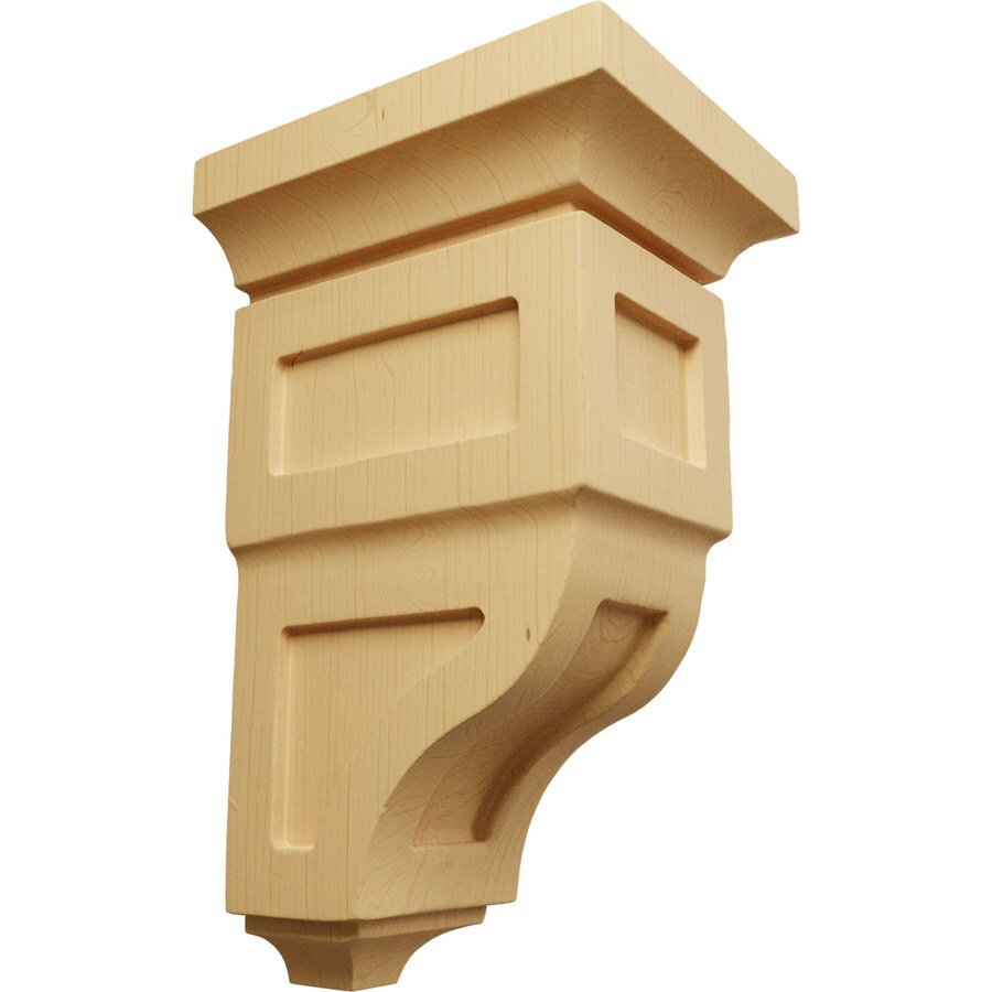 Ekena Millwork 4-in x 8-in Brown Reyes Wood Corbel