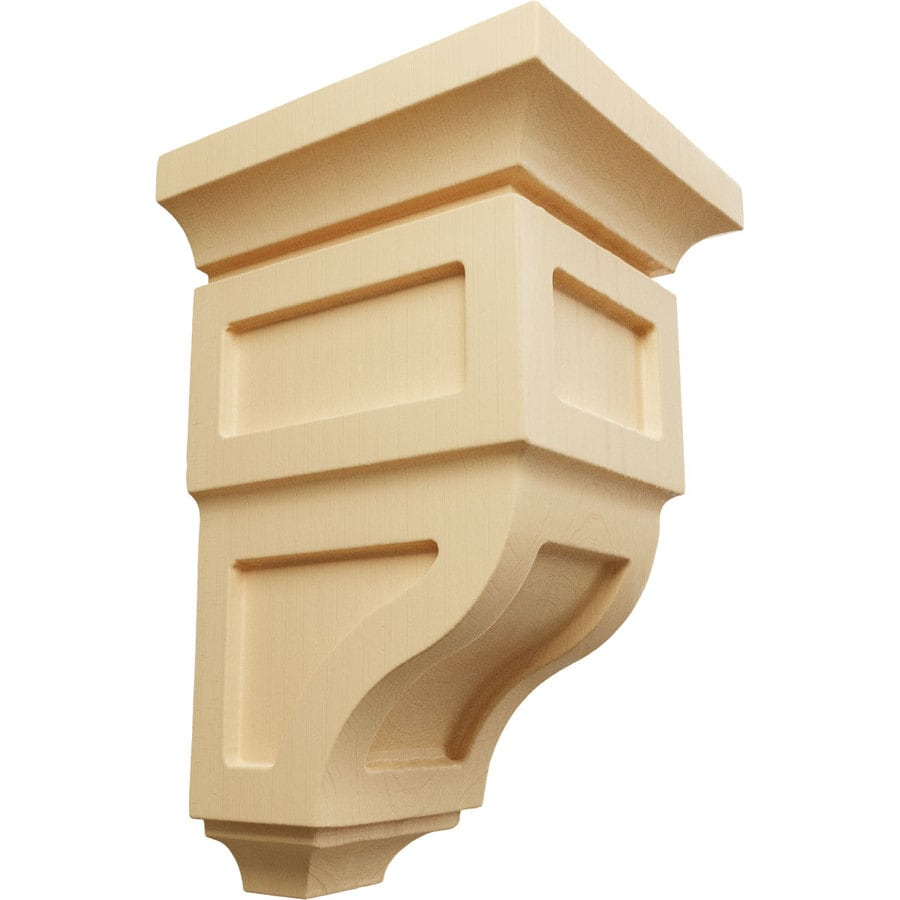 Ekena Millwork 3.5-in x 6-in Maple Reyes Wood Corbel