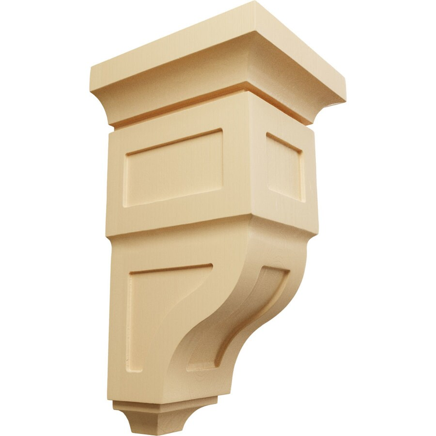Ekena Millwork 7-in x 14-in Maple Reyes Wood Corbel