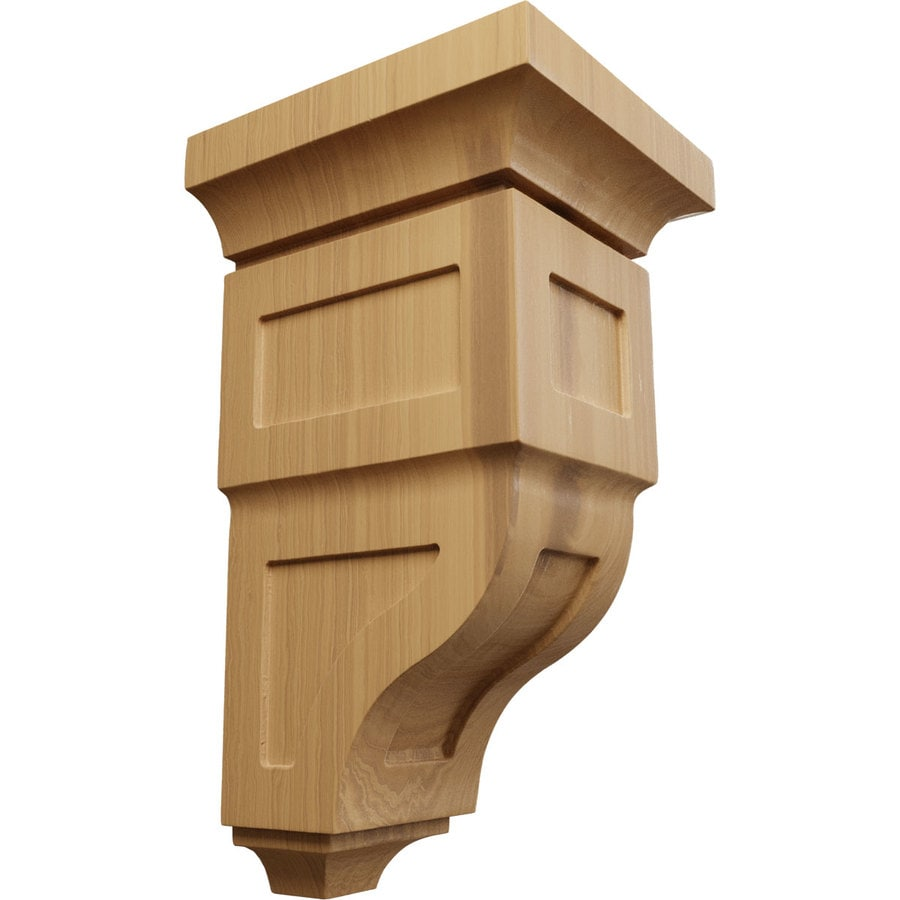 Ekena Millwork 7-in x 14-in Brown Reyes Wood Corbel