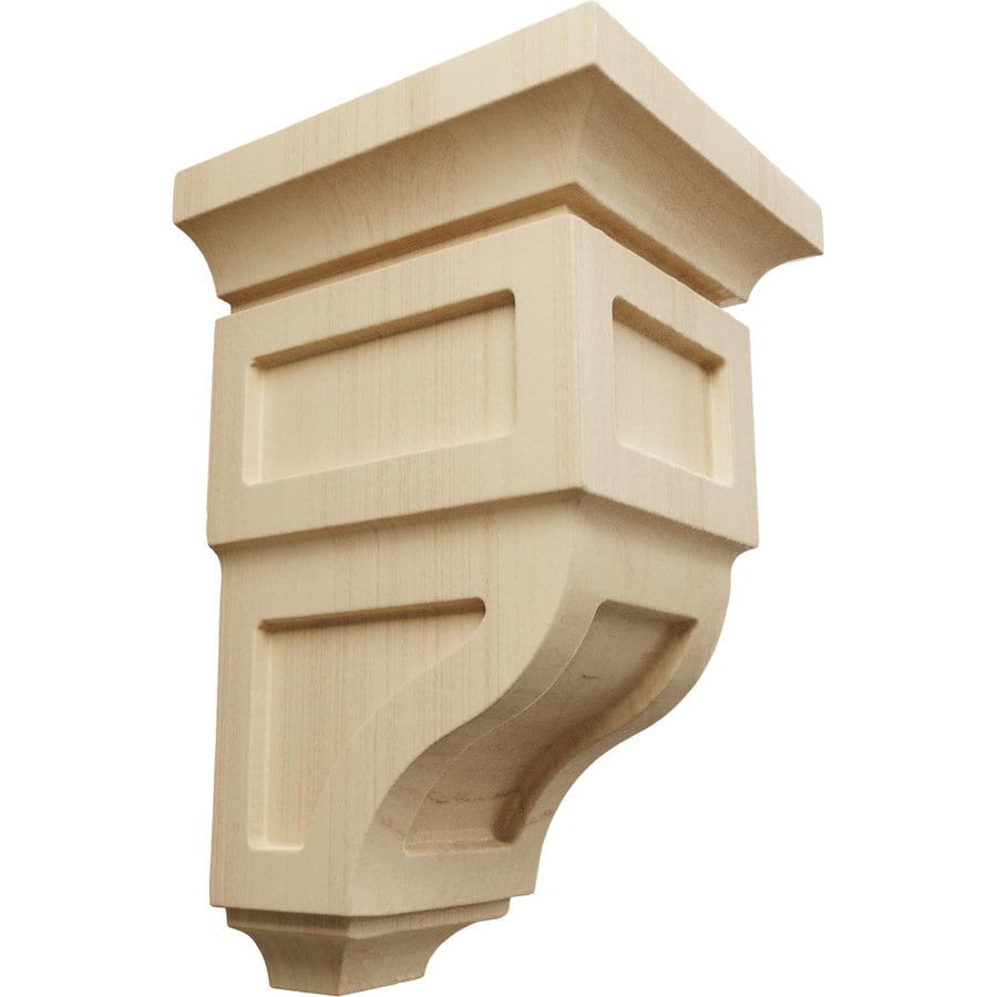Ekena Millwork 3.5-in x 6-in Rubberwood Reyes Wood Corbel