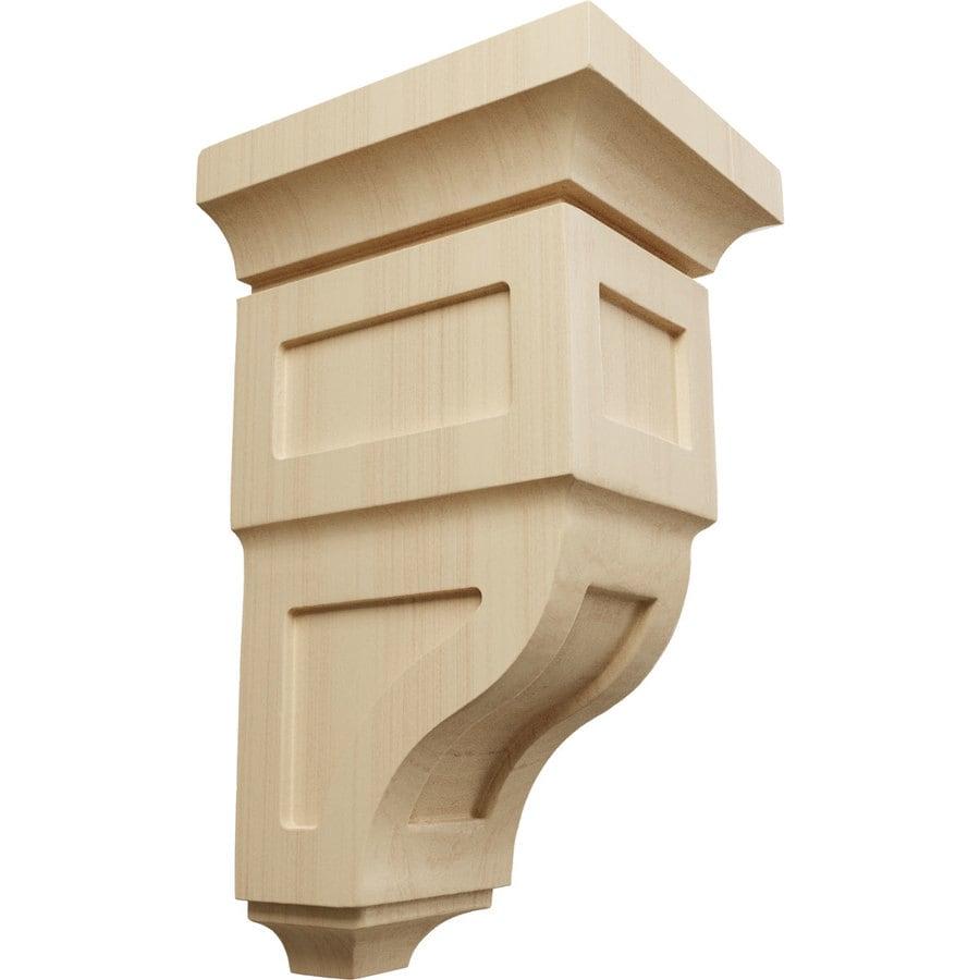 Ekena Millwork 5-in x 10-in Brown Reyes Wood Corbel