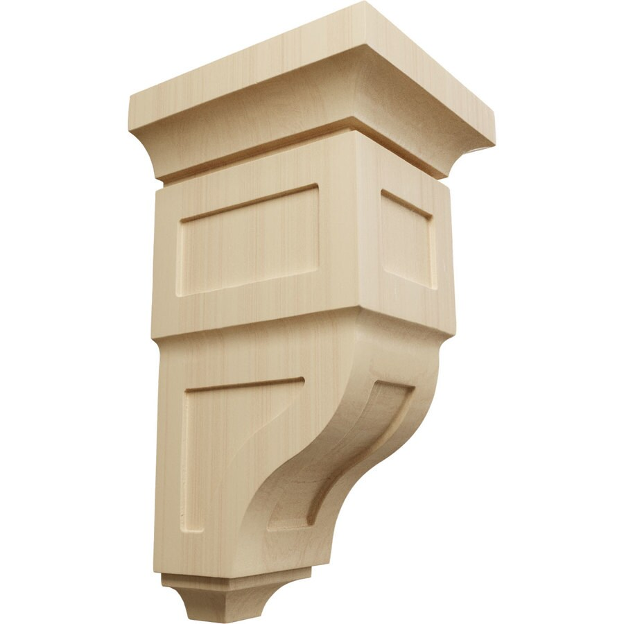 Ekena Millwork 7-in x 14-in Rubberwood Reyes Wood Corbel