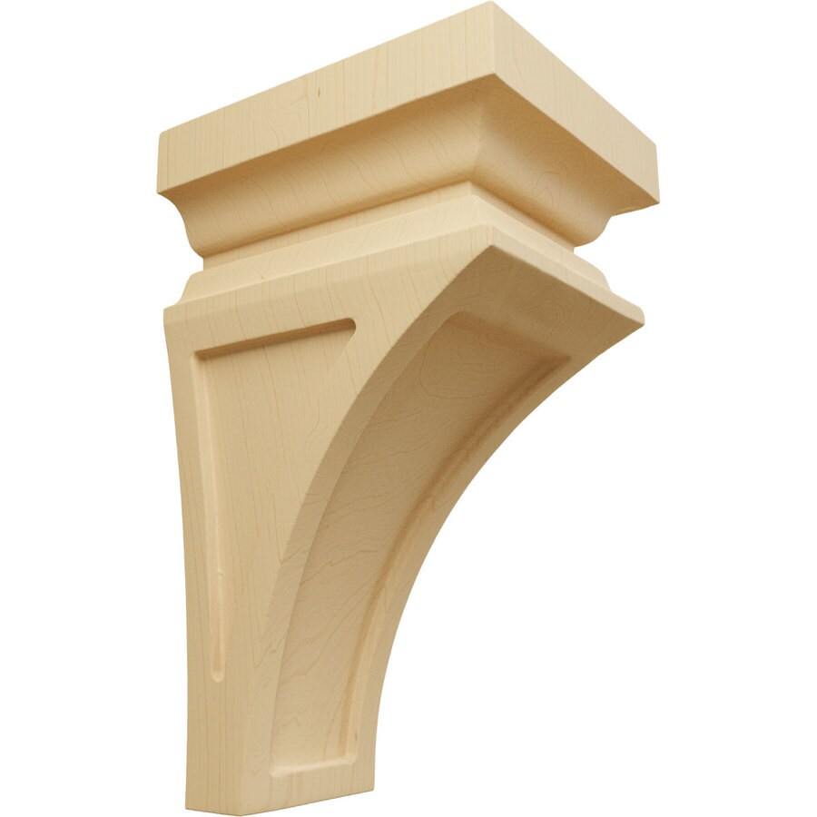 Ekena Millwork 4-in x 8-in Brown Nevio Wood Corbel