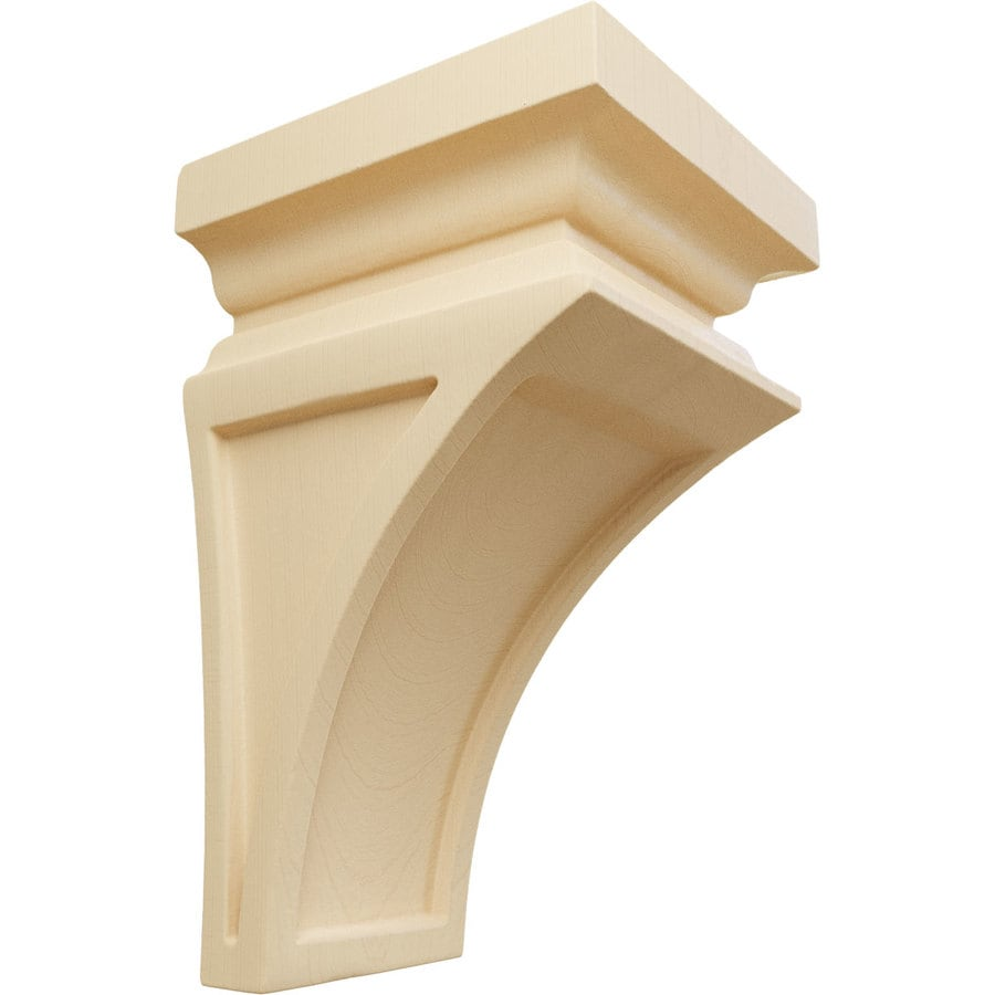 Ekena Millwork 3.5-in x 6-in Brown Nevio Wood Corbel