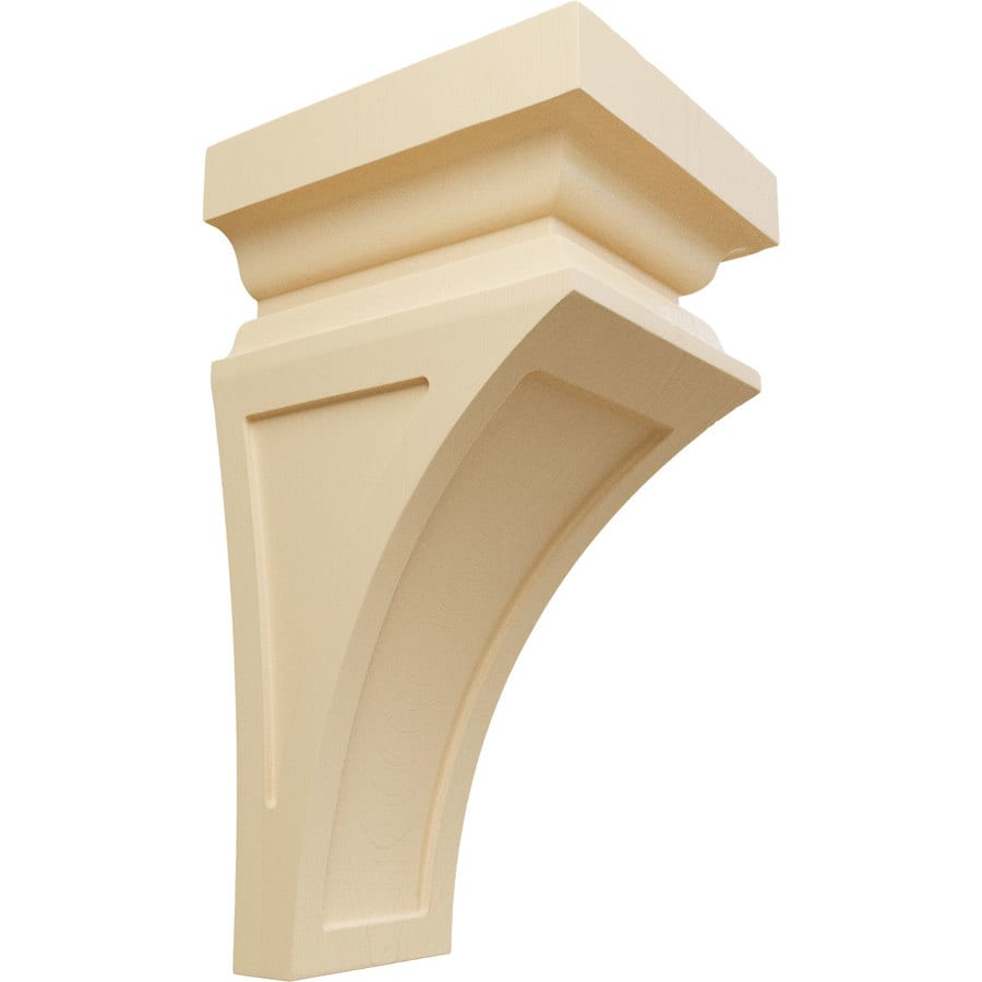 Ekena Millwork 7-in x 14-in Maple Nevio Wood Corbel