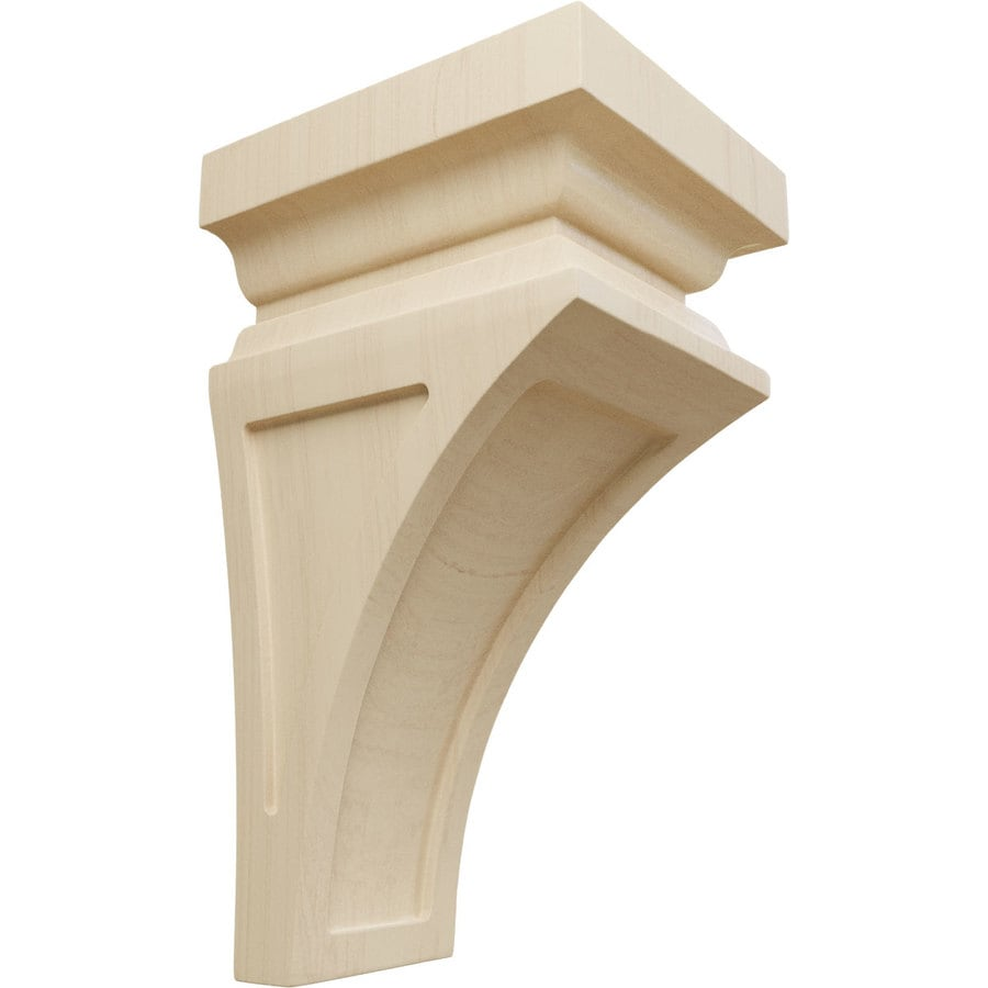 Ekena Millwork 5-in x 10-in Rubberwood Nevio Wood Corbel