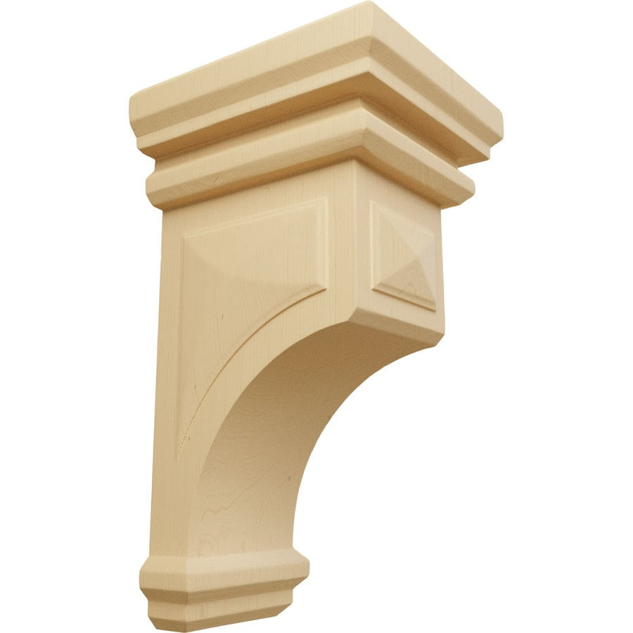 Ekena Millwork 7-in x 14-in Brown Woodruff Wood Corbel