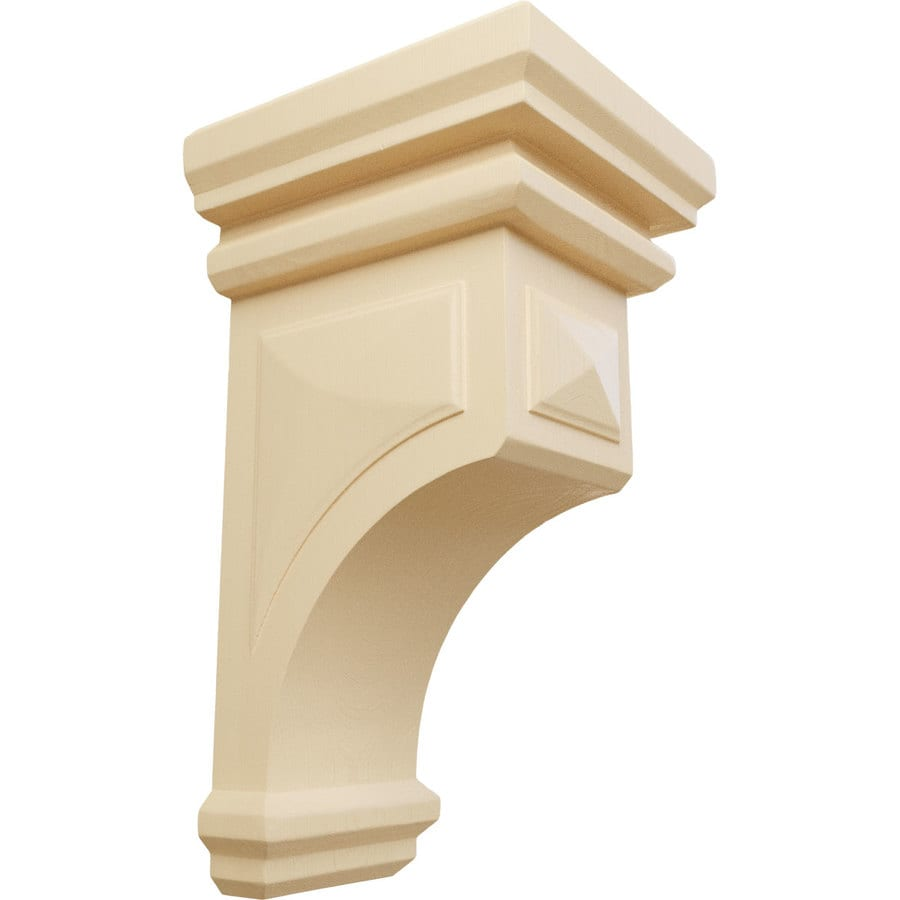 Ekena Millwork 7-in x 14-in Maple Woodruff Wood Corbel