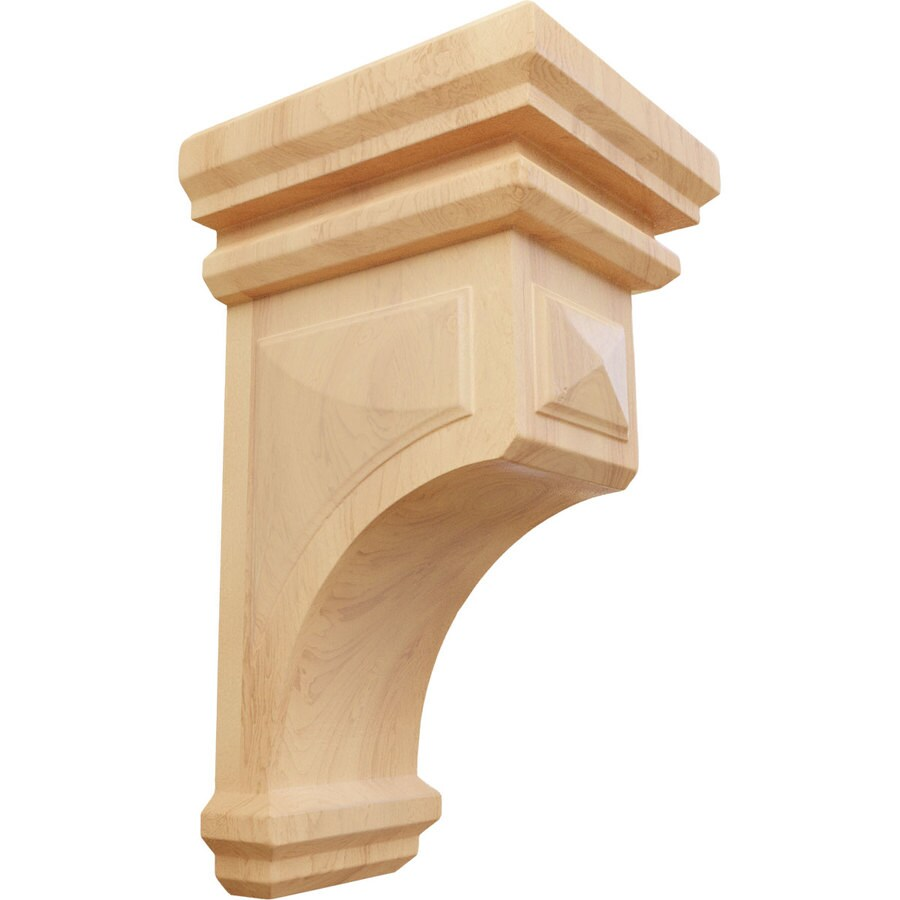 Ekena Millwork 5-in x 10-in Woodruff Red Oak Corbel