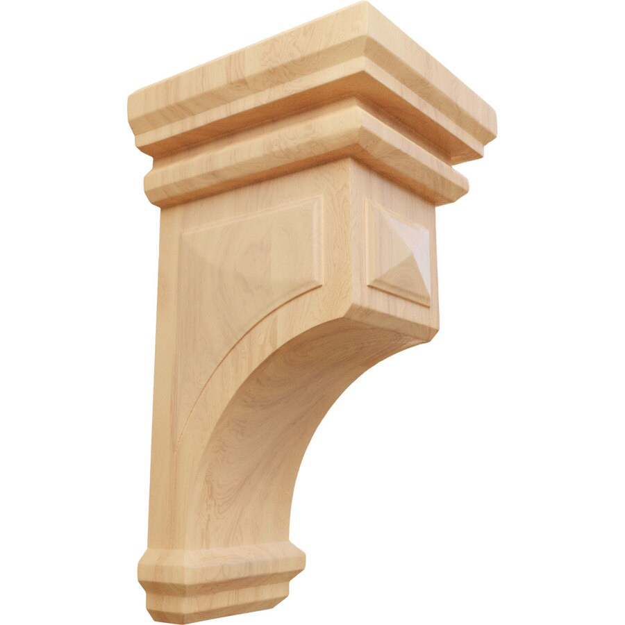 Ekena Millwork 7-in x 14-in Woodruff Red Oak Corbel