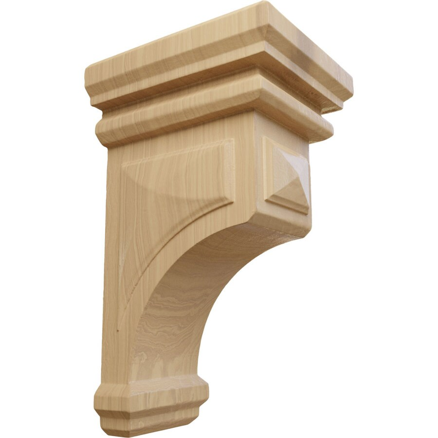 Ekena Millwork 4-in x 8-in Brown Woodruff Wood Corbel