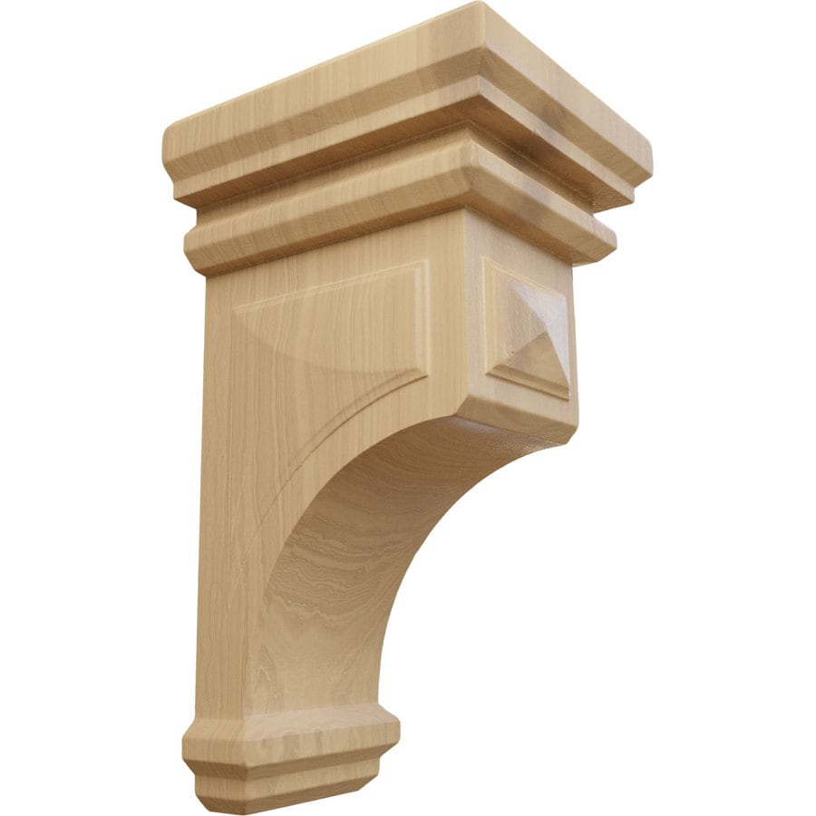 Ekena Millwork 5-in x 10-in Brown Woodruff Wood Corbel