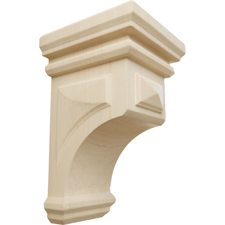 Ekena Millwork 3.5-in x 6-in Brown Woodruff Wood Corbel