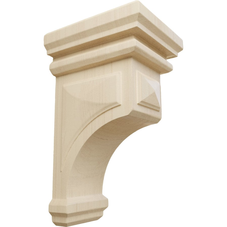 Ekena Millwork 4-in x 8-in Brown Woodruff Wood Corbel