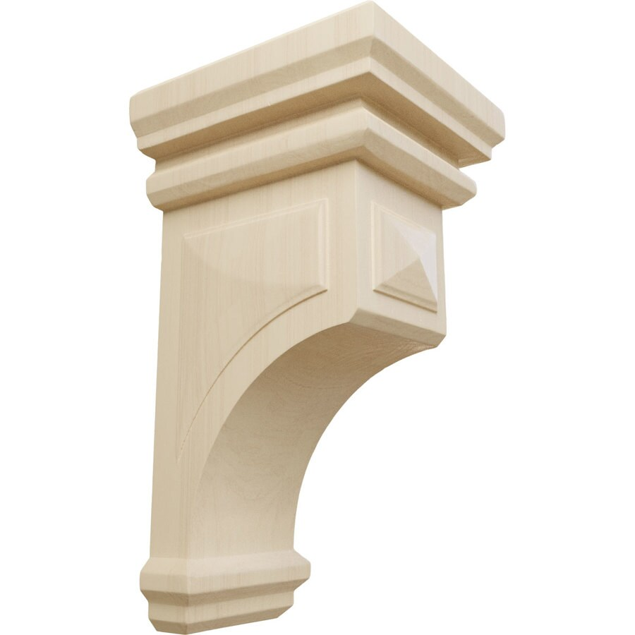 Ekena Millwork 7-in x 14-in Rubberwood Woodruff Wood Corbel