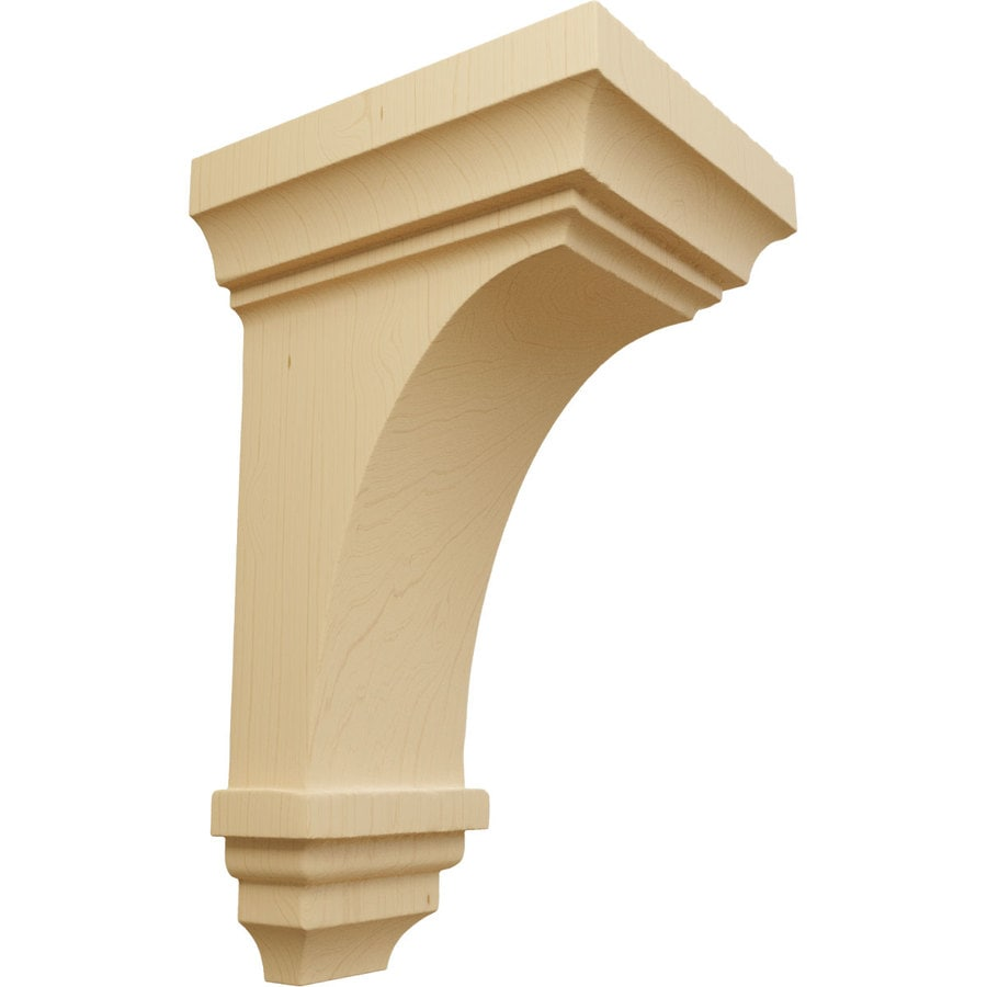 Ekena Millwork 4-in x 8-in Alder Jefferson Wood Corbel