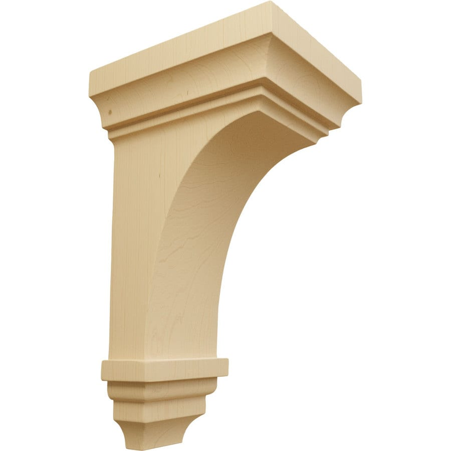 Ekena Millwork 5-in x 10-in Alder Jefferson Wood Corbel