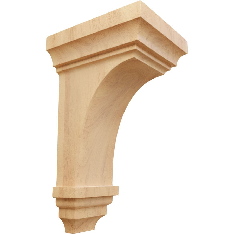 Ekena Millwork 5-in x 10-in Red Oak Jefferson Wood Corbel
