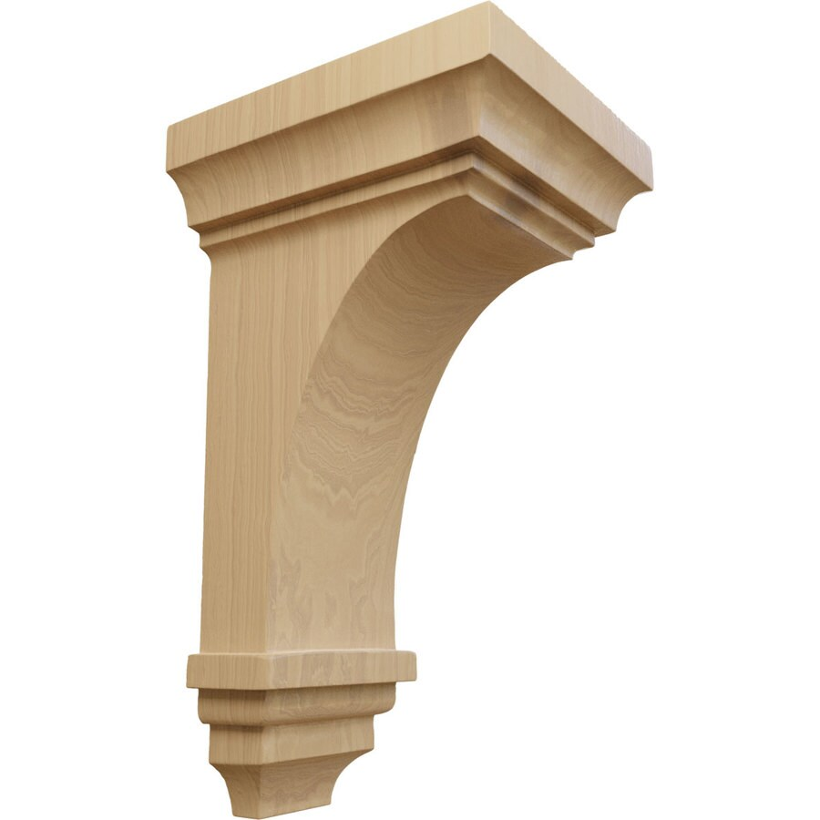 Ekena Millwork 6-in x 12-in Brown Jefferson Wood Corbel
