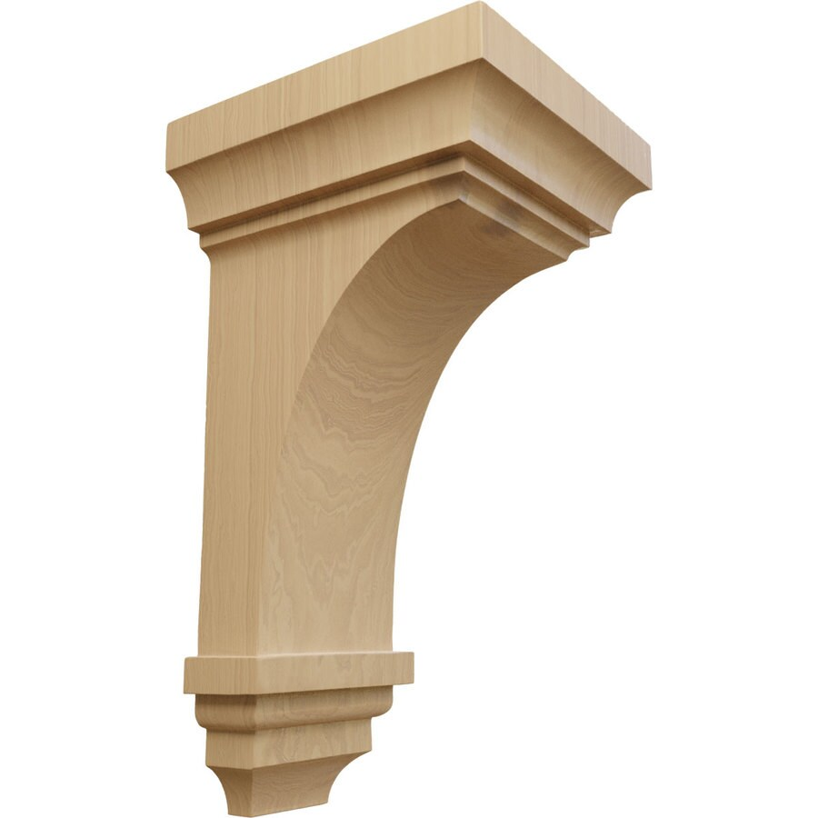 Ekena Millwork 7-in x 14-in Cherry Jefferson Wood Corbel