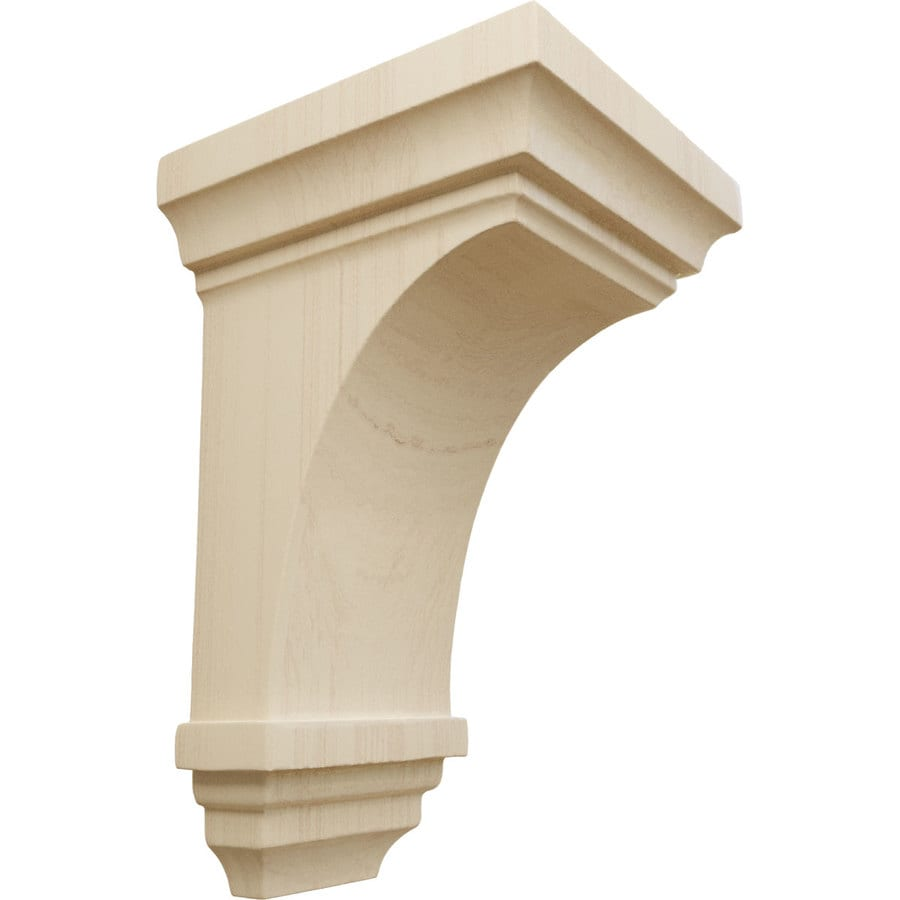 Ekena Millwork 3.5-in x 6-in Brown Jefferson Wood Corbel