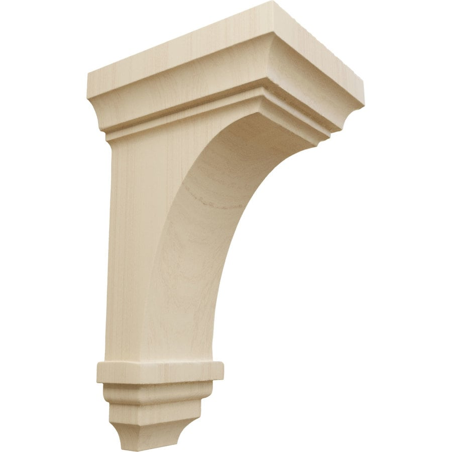 Ekena Millwork 4-in x 8-in Jefferson Rubberwood Corbel