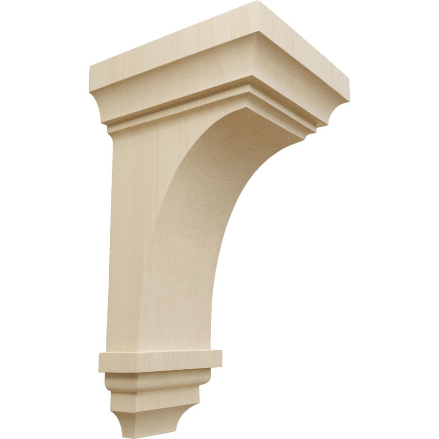 Ekena Millwork 7-in x 14-in Rubberwood Jefferson Wood Corbel