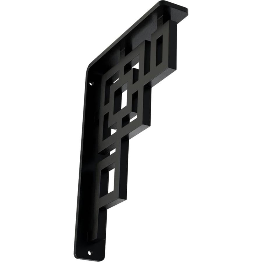 Ekena Millwork Eris 8-in x 1.5-in x 5.5-in Black Countertop Support Bracket