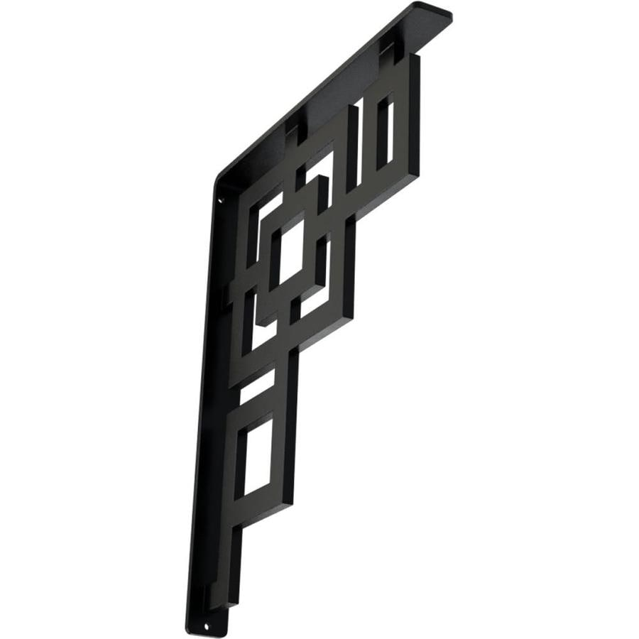 Ekena Millwork Eris 15-in x 1.5-in x 12-in Black Countertop Support Bracket