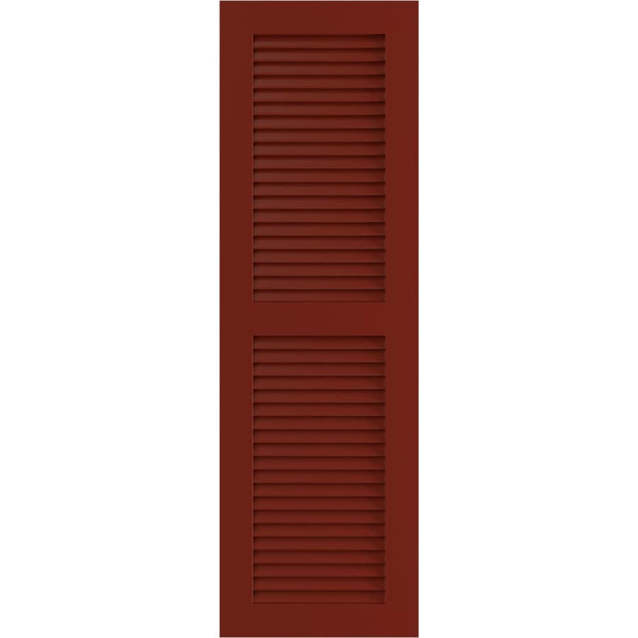 Ekena Millwork 2 Pack Cottage Red Louvered Composite