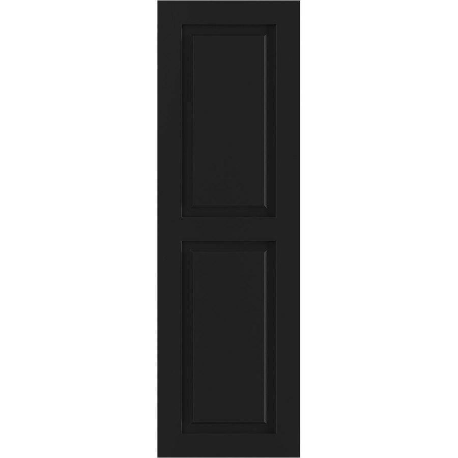 Shop Ekena Millwork 2-Pack Black Raised Panel Composite Exterior ...