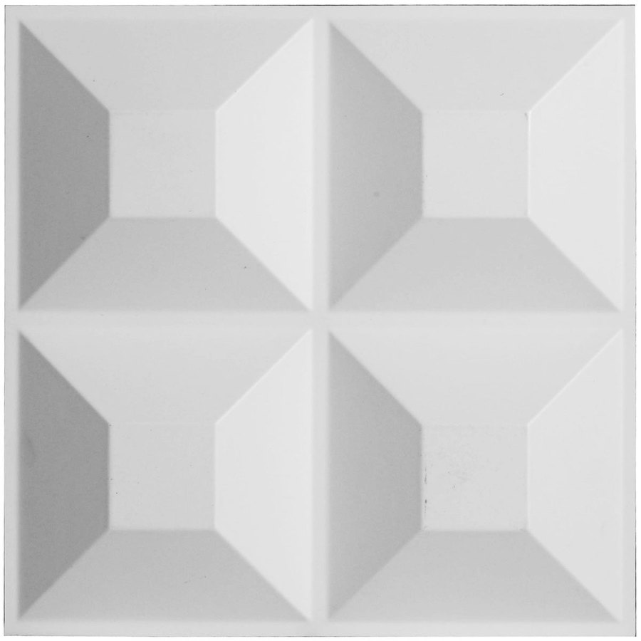 Ekena Millwork EnduraWall 11.875-in x 1-ft Embossed Matte White PVC Wall Panel