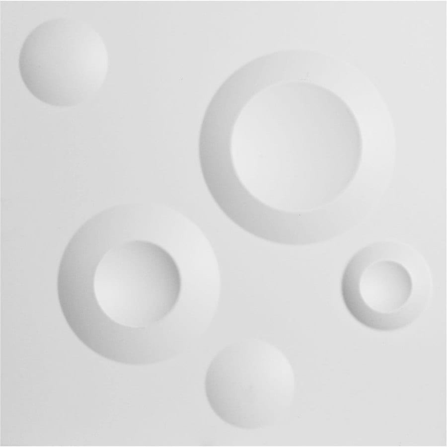 Ekena Millwork EnduraWall 11.875-in x 1-ft Embossed Matte White PVC Wall Panel