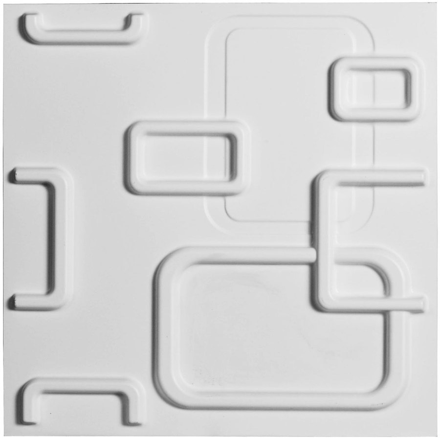 Ekena Millwork EnduraWall 19.625-in x 1.6-ft Embossed Matte White PVC Wall Panel