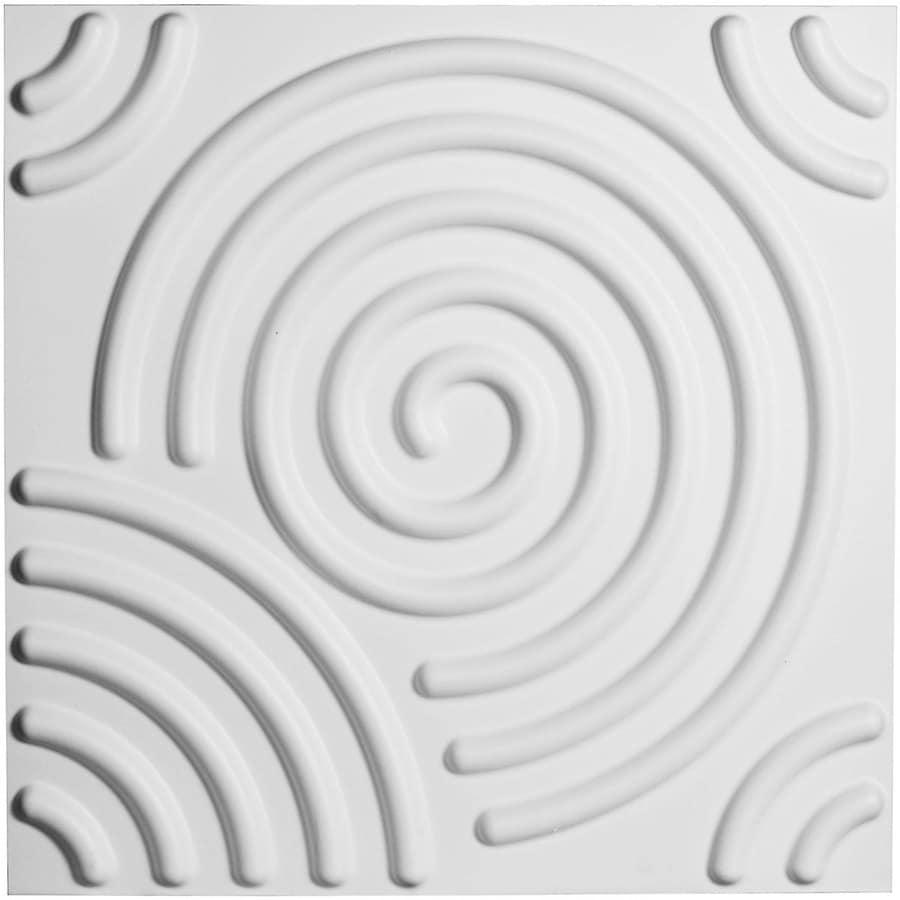 Ekena Millwork EnduraWall 19.625-in x 1.6-ft Embossed Matte White PVC Wall Panel
